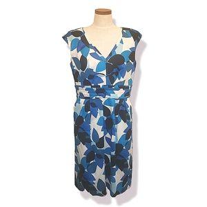 Calvin Klein Leaf Print Pockets Sheath Dress 12
